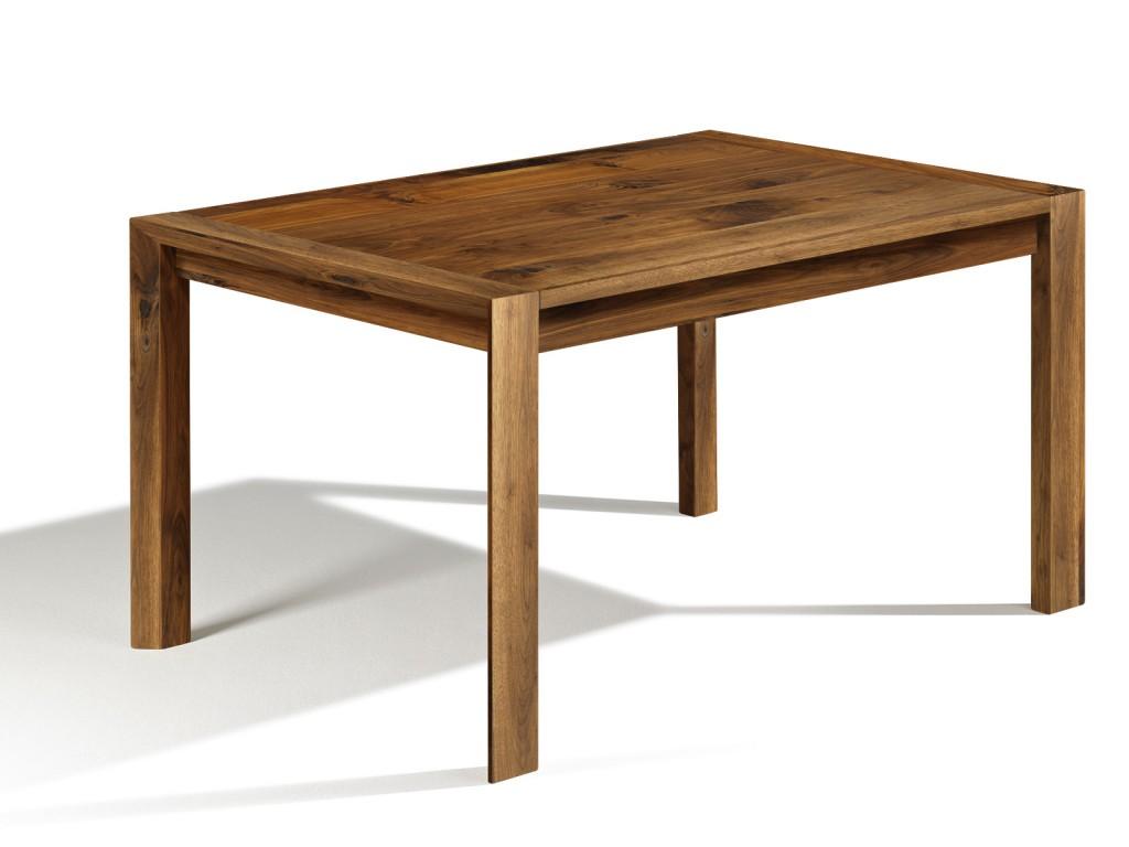 hier ausziehbarer tisch loja esstisch nussbaum in 240cm x 70cm ausziehbar 100cm. Black Bedroom Furniture Sets. Home Design Ideas
