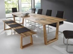 Säulentisch Holz esstisch kernbuche ausziehbar esstischmanufaktur at